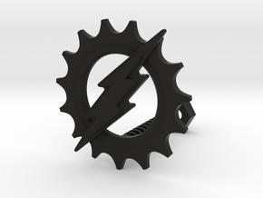 Gear & flash in Black Natural Versatile Plastic
