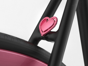 Fixie Heart in Pink Strong & Flexible Polished