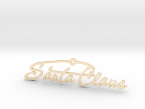 Santa Signature 1.2 in 14k Gold Plated Brass
