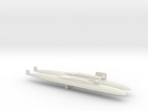 USS George Washington SSBN x 2, 1/1800 in White Natural Versatile Plastic