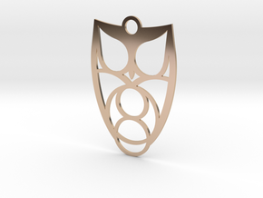 Owl #1 (thin version) in 14k Rose Gold Plated