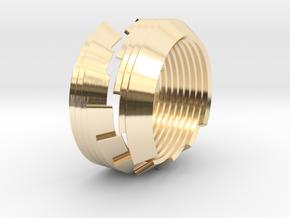 Custom 18mm inner diameter ring in 14k Gold Plated Brass
