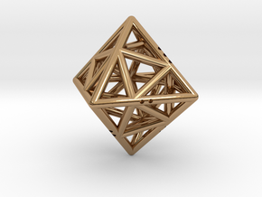 Octahedon with Icosahedron inside in Polished Brass