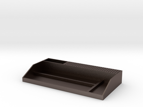 Tabletop Organizer (Rough) in Polished Bronzed Silver Steel