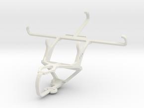 Controller mount for PS3 & BLU Studio 5.0 C HD in White Natural Versatile Plastic