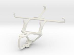 Controller mount for PS3 & BLU Studio C 5 + 5 in White Natural Versatile Plastic