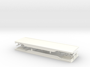 1/64th 28' outside frame flatbed doubles in White Processed Versatile Plastic