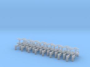 Monorail H Stand Set of 16 in Smooth Fine Detail Plastic: 1:24