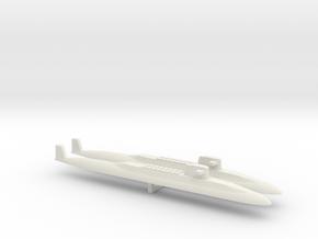 USS Lafayette SSBN x 2, 1/1800 in White Natural Versatile Plastic
