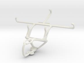 Controller mount for PS3 & NIU Tek 5D in White Natural Versatile Plastic