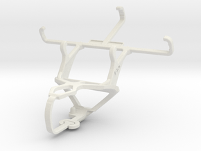 Controller mount for PS3 & Samsung Galaxy Ace 4 LT in White Natural Versatile Plastic