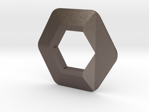 Voxel Material Sample - ALL MATERIALS in Polished Bronzed Silver Steel