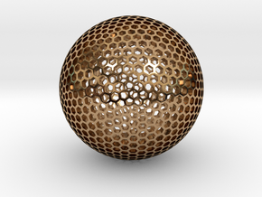 Goldberg Sphere  in Polished Brass