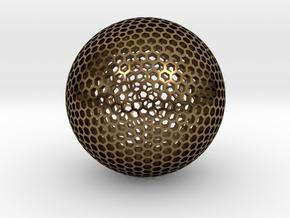 Goldberg Sphere  in Polished Bronze