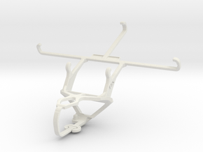 Controller mount for PS3 & Samsung Galaxy Mega 2 in White Natural Versatile Plastic