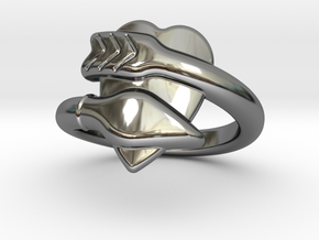 Cupido Ring 23 - Italian Size 23 in Fine Detail Polished Silver