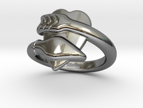 Cupido Ring 24 - Italian Size 24 in Fine Detail Polished Silver