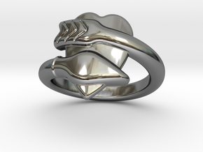 Cupido Ring 25 - Italian Size 25 in Fine Detail Polished Silver
