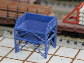 N Scale Aggregate Hopper Small in Smooth Fine Detail Plastic