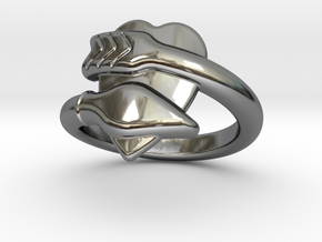 Cupido Ring 27 - Italian Size 27 in Fine Detail Polished Silver