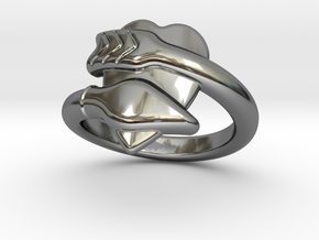 Cupido Ring 30 - Italian Size 30 in Fine Detail Polished Silver