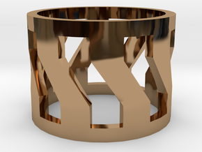 Trojan V2 Men Ring [Size 9] in Polished Brass