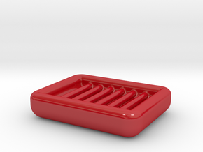 Soap Dish in Gloss Red Porcelain