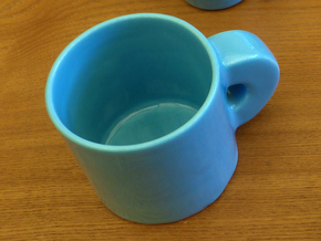 Topology joke (porcelain) step 1 in Gloss Blue Porcelain