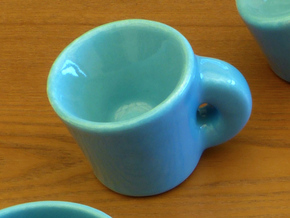 Topology joke (porcelain) step 2 in Gloss Blue Porcelain