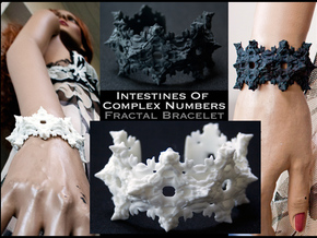 Intestines of Complex Numbers - Bracelet in White Processed Versatile Plastic