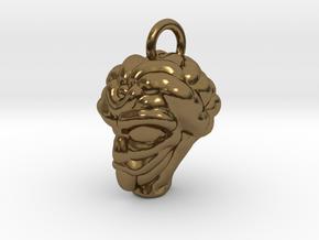 Alien Head Key Ring Add-on in Polished Bronze