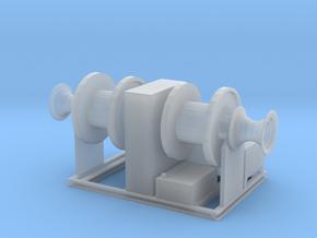 1/96 hydraulic deck winch, twin drum  in Smooth Fine Detail Plastic