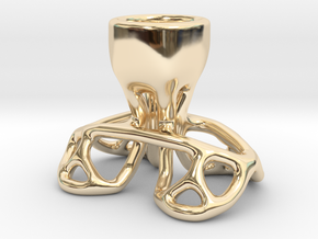 Arc Candle Holder (single) in 14K Yellow Gold