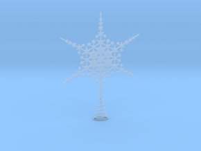 Sparkle Snow Star - Fractal Tree Top - MP1 - M1 in Smooth Fine Detail Plastic