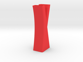 Vase 7 in Red Processed Versatile Plastic