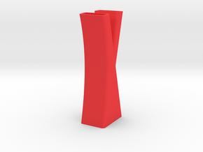 Vase 7 in Red Processed Versatile Plastic