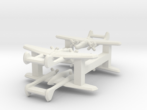 P-61 Blackwidow 1:900 x4 in White Strong & Flexible