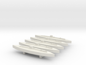 HMS Salmon (S class) (WSF) 1/1800 x5 in White Natural Versatile Plastic