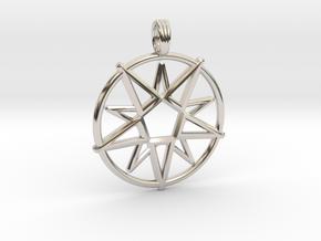 MAGIC CIRCLE in Rhodium Plated Brass