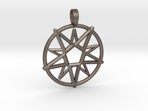 MAGIC CIRCLE in Polished Bronzed Silver Steel