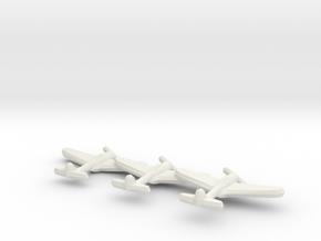 Ki-43-I Oscar (Early War) (Triplet) 1:900 in White Natural Versatile Plastic