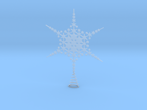 Sparkle Snow Star - Fractal Tree Top - MP2 - M in Smooth Fine Detail Plastic