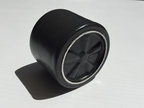 Espresso cup - Fuchs wheel in Matte Black Porcelain