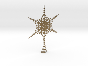 Sparkle Snow Star - Fractal Tree Top - HP0 - S in Natural Bronze