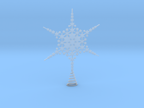 Sparkle Snow Star - Fractal Tree Top - HP3 - S in Smooth Fine Detail Plastic