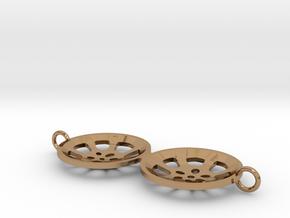 """Double Seconds """"essence"""" steelpan bracelet charm in Polished Brass"""