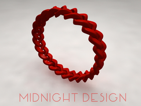 Napkin Holder Braided in Red Processed Versatile Plastic