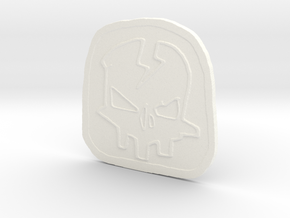 Axton Borderlands patch in White Processed Versatile Plastic