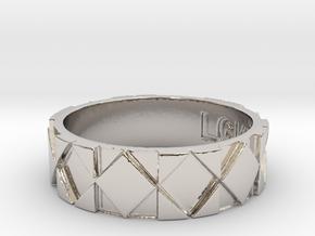 Futuristic Rhombus Ring Size 12 in Platinum