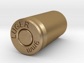 9mm Lugers case Mug in Polished Gold Steel
